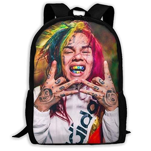 Hengtaichang Backpack for Men Women,6ix9ine Backpacks Hiking Laptop Backpack Travel Large Shoulder Bags for School Shopping Outdoor Sports