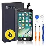bokman schermo display lcd per iphone 6 nero, touch screen digitizer parti di ricambio con strumenti di riparazione