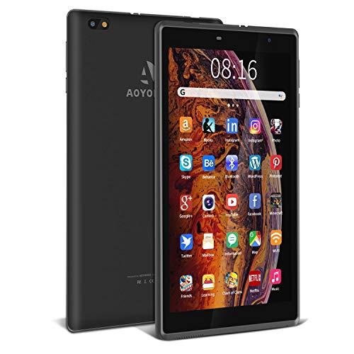 Tablet 8 pollici Android 10.0, 3 GB + 32 GB, Espanso 128GB, con Processore Quad-Core- Certificato Google GSM|5000 mAh| IPS 1280 * 800|Fotocamera da 2 MP + 5 MP| WiFi (Nero)
