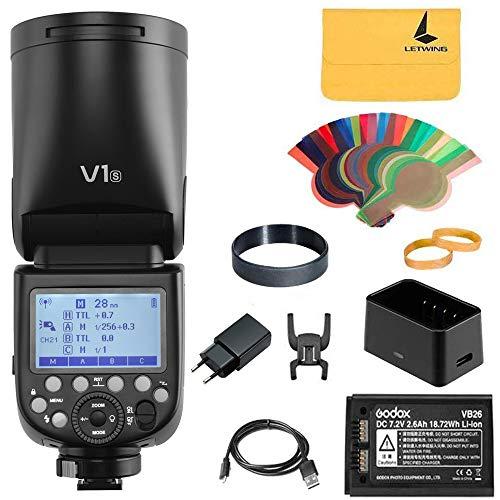 Godox V1-S Flash Speedlight tondo 1/8000 HSS 76Ws GN92 2.4G TTL e 2600mAh Lithimu Battery per Sony HVL-F60M, HVL-F43M HVL-F32M Camera (V1-S)