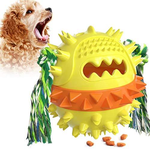 BHSHUXI Juguete para perros de pelota, juguetes para masticar perros, juguete de goma para perros, dientes fuertes y duraderos para masticar/jugar para entrenamiento de mascotas/jugar/masticar