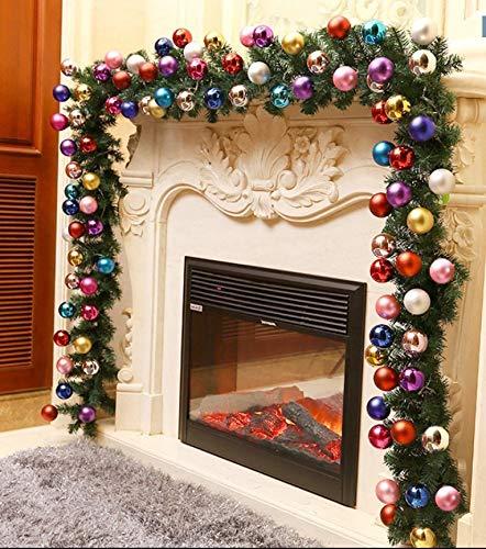 Djkaa Rota Kerstmis 270 cm. Luxe versiering met lampjes. gouden sieraden. Rode slinger.