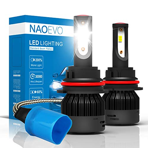 NAO 9007 (High/Low Beam) LED Headlight Bulbs 72W 7600LM /Pair Car LED Headlights All-in-One Conversion Kit (Pack of 2)