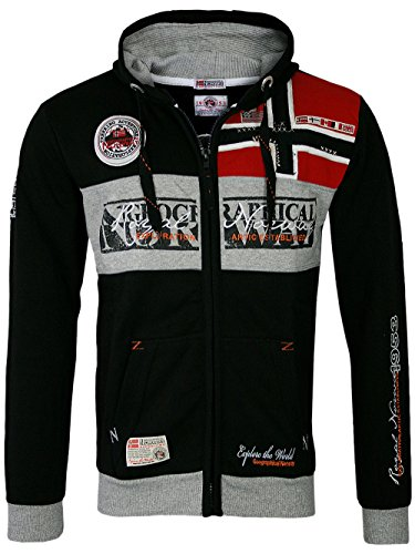 Geographical Norway Veste à capuche Flyer pour homme - Noir - XXX-Large