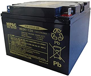 HITACHI [ 日立化成株式会社 ] 電動車バッテリー [ シールド型鉛蓄電池 ] HC24-12
