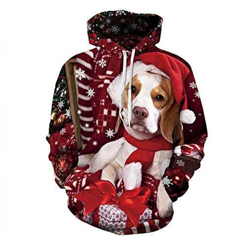 HNKPWY hond met capuchon, de kerstmuts, streetwear preent, unisex, sweatshirt, lange mouw, hoodie draagt