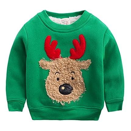 Happy Cherry Santa Claus Navidad capucha sudaderas con capucha de Navidad Niño pequeño, verde 23Y para Unisex-adulto