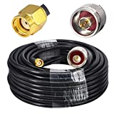 YOTENKO Low Loss N Male to RP SMA Male Low Loss Antenna Coax Cable SMA N Male Pigtail 10M for 3G/4G/LTE/Ham/GPS/RF Radio to Antenna or Surge Arrester Use