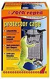 Sera 32030 Reptil Protector Cage - Cesto Protector para terrarios o terrarios (protección contra Quemaduras), Color Negro