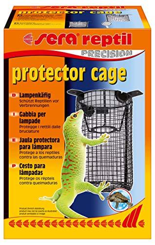 Sera 32030 Reptil Protector Cage Terrarium bzw. Terrarien Schutzkorb oder Lampenschutzkorb als Verbrennungsschutz Black