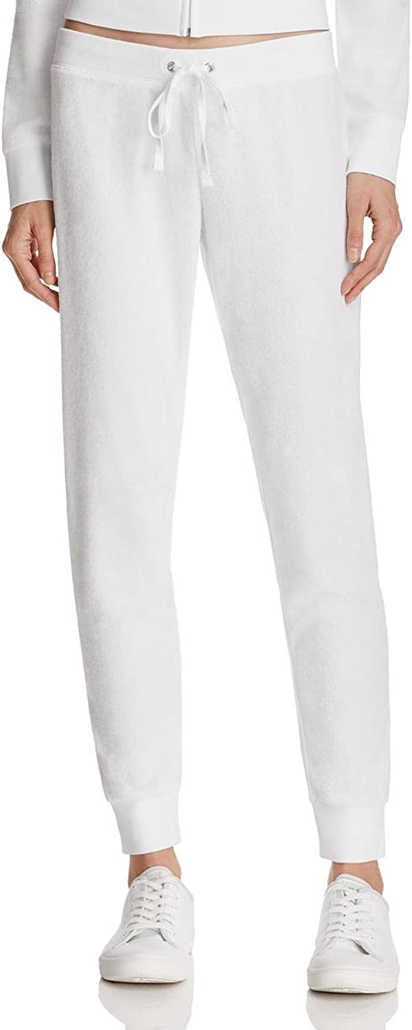 Juicy Couture Black Label Womens Zuma Running Track Athletic Pants White M