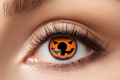 Eyecatcher 84080441-944 - Farbige Kontaktlinsen, 1 Paar, für 12 Monate, Orange, Karneval, Fasching, Halloween