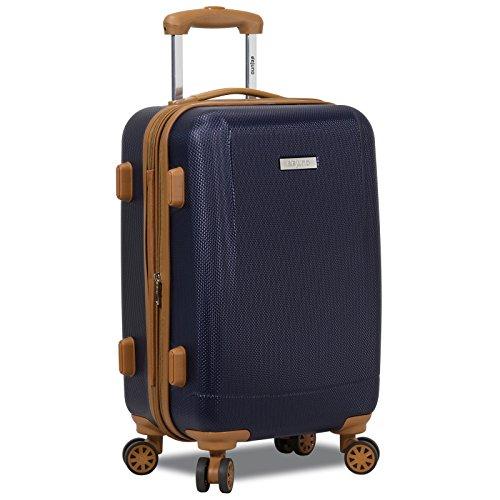 Dejuno Legion Hardside Spinner Tsa Combination Lock Carry-on Suitcase-Navy, One Size
