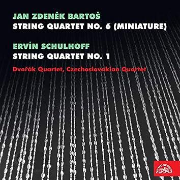 """Bartoš: String Quartet No. 6 """"Miniature"""" - Schulhoff: String Quartet No. 1"""