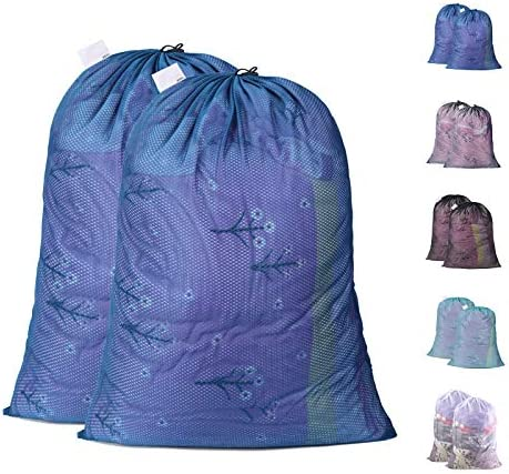 Polecasa Heavy Duty Lead Free Diamond Shape Mesh Laundry Bags 2 Pack 24 x 36 inches Sturdy Mesh product image