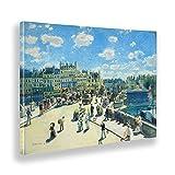 Giallobus - Pinturas - Pierre Auguste Renoir - El Nuevo Puente - Lienzo - 100x70 - Listo para Colgar - Cuadros Modernos para el hogar