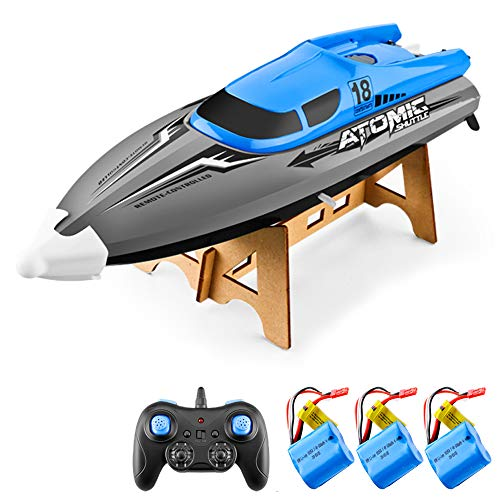 Anti-collision Hull Remote Control RC Boat for Adults Kids, Flip Reverse with...