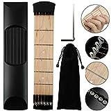 AMHDEE Tragbare 6 Fret Pocket Gitarre Gadget Akkord Praxis Tragbare Akustik Taschengitarren...