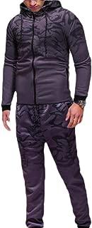 Men's 2 Piece Tracksuit Coat Jacket Elastic Pants Sweatpants Jogger Sports Gym Set