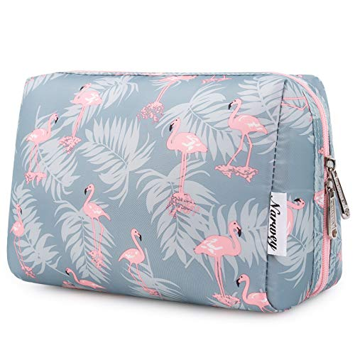 Large Makeup Bag Zipper Pouch Travel Cosmetic Organizer for Women and Girls (Large, Flamingo)