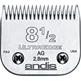 Andis Carbon-Infused Steel UltraEdge Dog Clipper Blade, Size-8-1/2-Inch, 7/64-Inch Cut Length (64170)