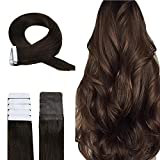 Easyouth Extension Adhesive Natural Color 2 Dunkelstes Braun 16 Zoll 40 cm 40 g pro Packung Haarverlängerung Haarband Schussband