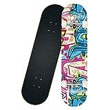 Skateboard for Kids Beginners, FOME 31.5x7.87in Skateboards 8 Layer Maple Wood Kids Cruiser