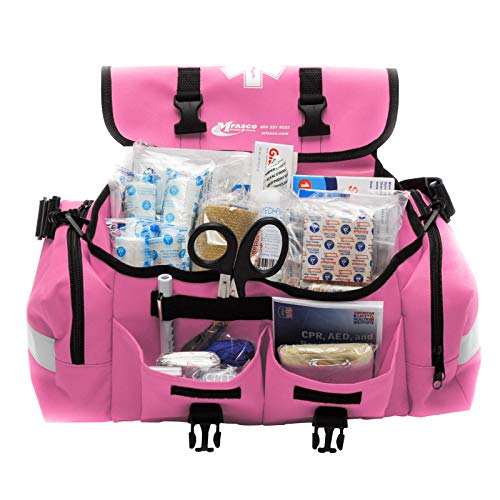 MFASCO - First Aid Kit - Complete Emergency Response Trauma Bag - for Natural Disasters - Pink