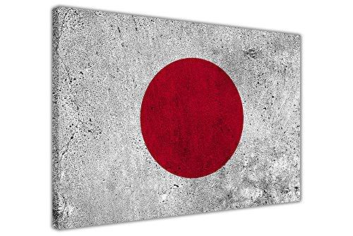 Canvas It Up Giappone bandiera su tela stampa artistica da parete 38mm di spessore cornice, Tela, 03- A2-24' X 16' (60cm X 40cm)