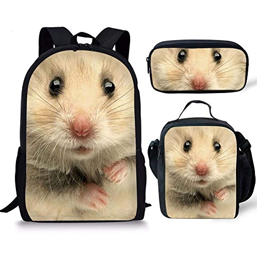 Coloranimal - Mochila infantil Niños, Hamster Backpack+lunch Bag+pencil Case, One_Size