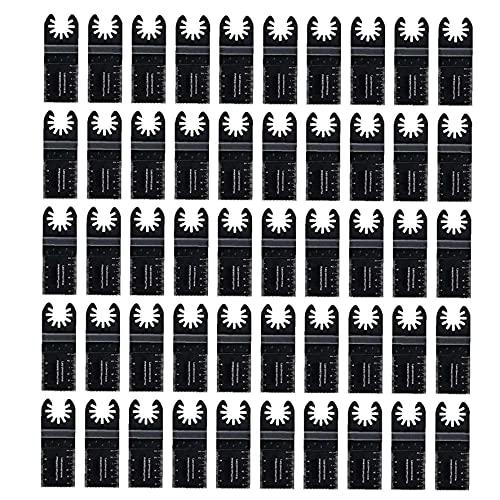 50 Madera oscilante versión multiherramienta rápida Hojas de sierra compatibles con Fein Multimaster Porter Cable Negro & Decker Bosch Dremel Herramienta Craftsman Hardware Consumibles