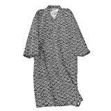 Kimono de algodón para mujeres y hombres, bata de baño de verano, bata de baño de spa, cubierta de natación, japonesa, ligera, holgada, cómoda, camisón con cinturón de bolsillo