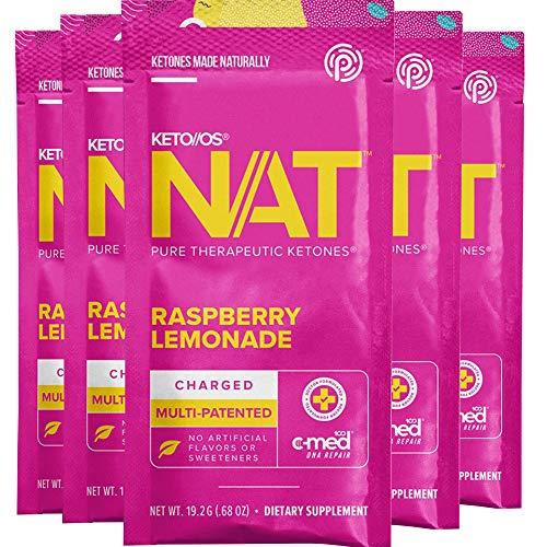 Pruvit Keto//OS NAT – Raspberry Lemonade Charged (5 Single Serve Packets)