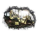 Borussia Dortmund Wandtattoo 3D für Tapete | Sport