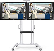 "Furniture Flat Panel TV Stand and Entertainment Console Cart,for Flat Panel LED LCD Plasma Screen 32"" to 60"" 360º of Swive..."
