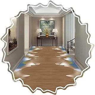 AOLI Pasillo corredor de la alfombra, Alfombras Easy Clean suave pelo denso antideslizante Respaldo largo Calchotenas Puerta de entrada de la cocina, Tamaño personalizable (color: A, Tamaño: 0,8 M x