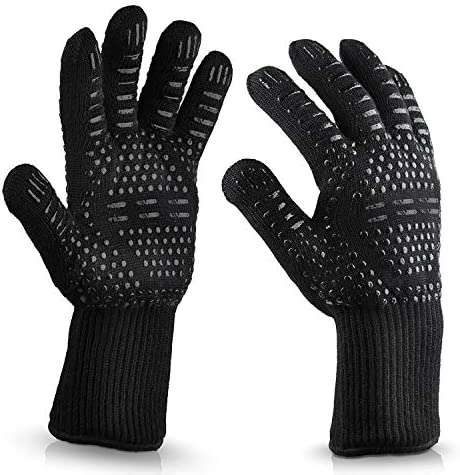 Vaupan BBQ Gloves Oven Gloves1472 Extreme Heat Resistant Grill Gloves Heat Proof and Fireproof product image