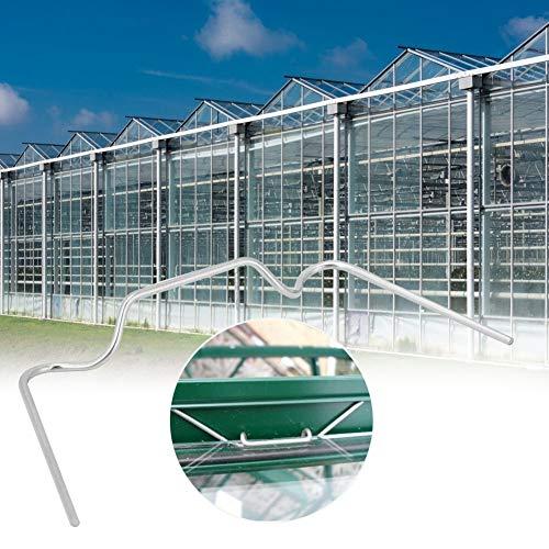 Mumusuki Edelstahl-Klammern für Gewächshaus, mit Federschlaufe, für Plexiglas-Platten auf Gewächshaus, 50 Stück