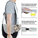 You Pet Dog Sling Carrier, Breathable Mesh Travelling Pet Hands-Free Sling Bag Adjustable Padded Strap Front Pouch Single Shoulder Bag for Dogs Cats 9