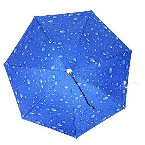 Wifehelper Anti-UV-Kopf Regenschirm Sonnenschutz Angeln Regenschirm Verstellbarer Regenschirm Hut Regendicht(#2)