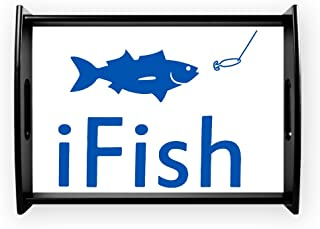 Large Serving Tray iFish Fishing Fisherman