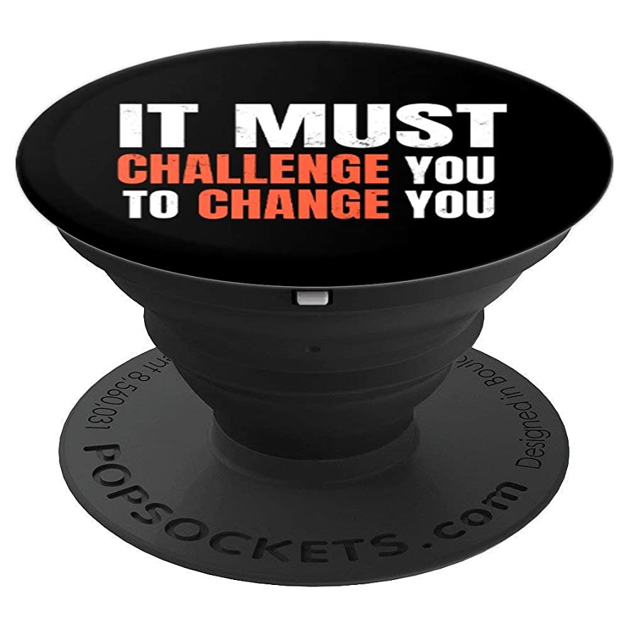 Motivational Workout Quote Fitness Inspired - PopSockets Grip and Stand for Phones and Tablets