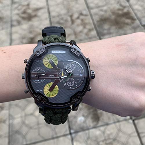 CHshe Herren Digital Sport Uhren,Outdoor Elektronische Armbanduhr mit Thermometer Kompass Function,Multifunktionsuhr Ir Digitaluhren Bergsteigeruhr