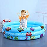 yzl Kiddie Pools 35.43X9.84inch Aufblasbarer Pool Ocean Ball Pool Sichere Sommerwasserparty Versorgung für Baby Kids Adult