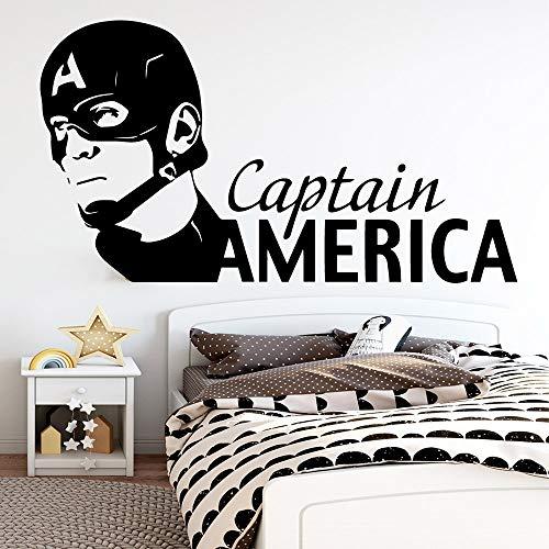 mlpnko Capitán Vinilo Pegatina de Pared decoración Dormitorio niños habitación decoración calcomanía Pared pegatina75X54cm
