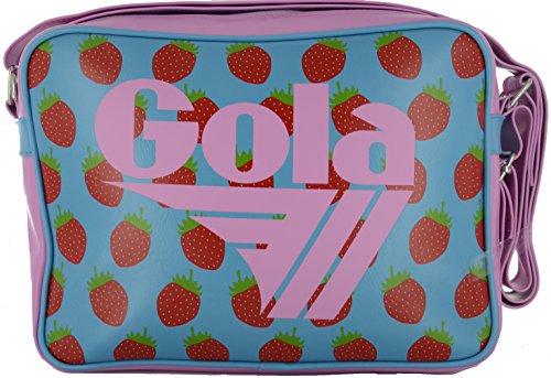 Borsa Gola Midi Redford Fruit CUB477ek - Cuchillo (30 x 22 x 8 cm), Blue/Bubblegum/Red (Multicolor) - CUB477ek