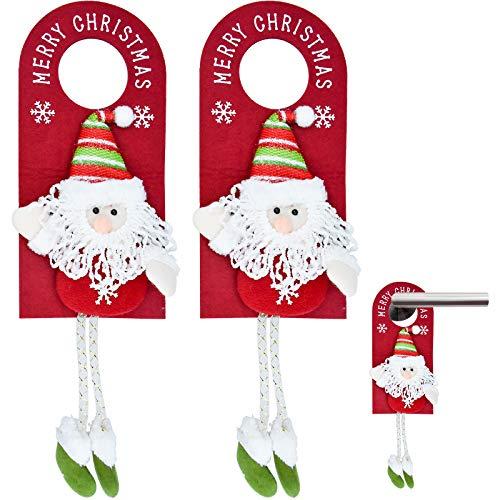 KARAA 2PCS Ciondolo Natalizio con Maniglia per Porta, Porte appese Buon Natale Adatte per la Decorazione Della Porta del Negozio di Casa