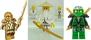 Lego Ninjago Minifigure Lot of 3 - Lloyd Zx / Sensei Wu / Golden Ninja ( Gold Lloyd Garmadon )