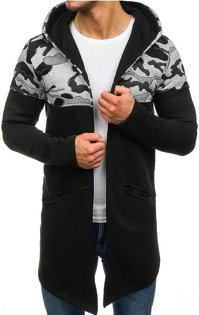 Men's Lightweight Open Front Cardigans Cardigan Sweaters Slim Fit Lightweight Trench Jacket