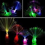 Herefun Finger Licht 20Pcs LED Bunt Leuchten Finger Spielzeug Taschenlampe Licht Pfau Licht für...